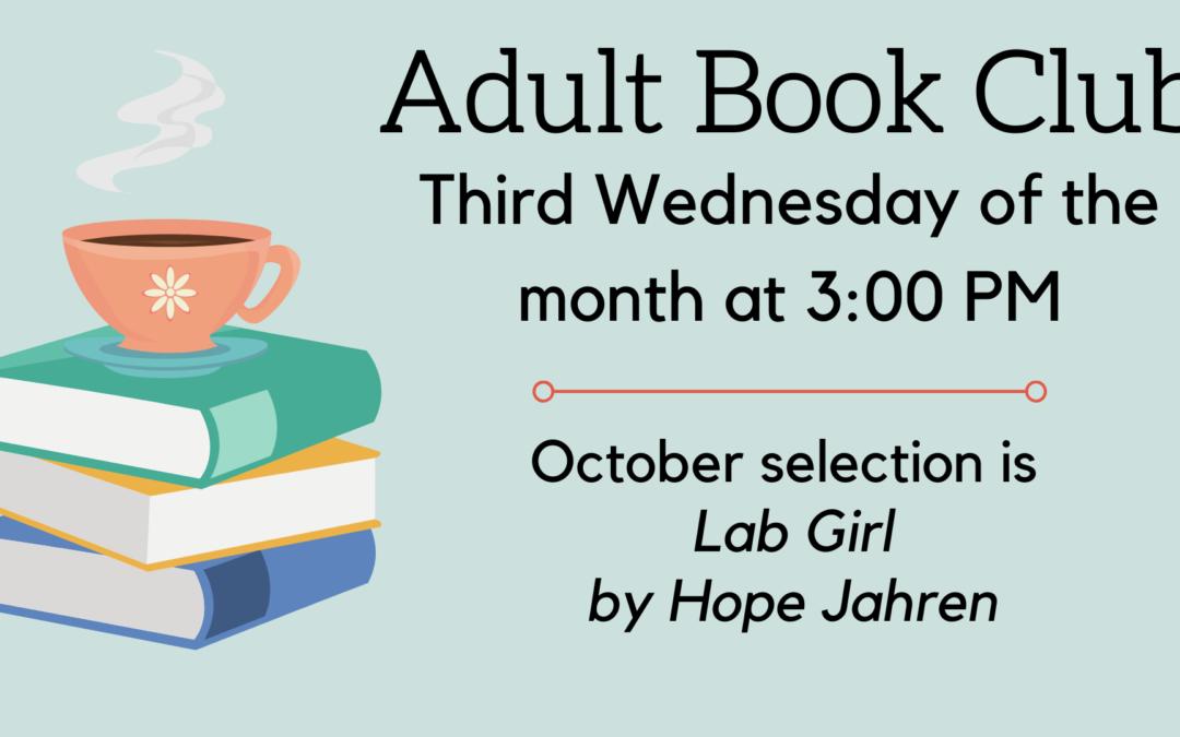 October Adult Book Club
