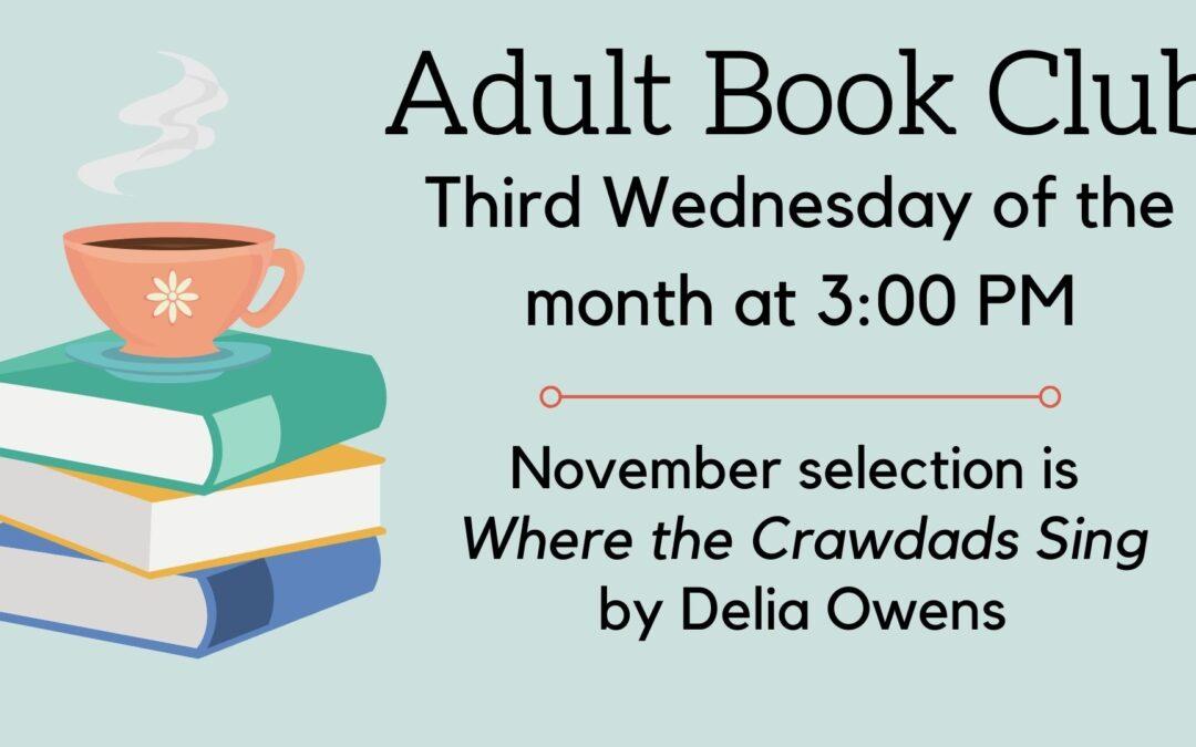 November Adult Book Club