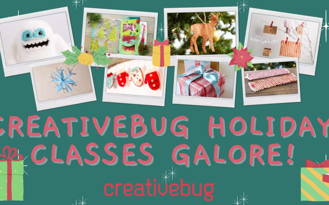 Creativebug Holiday Classes