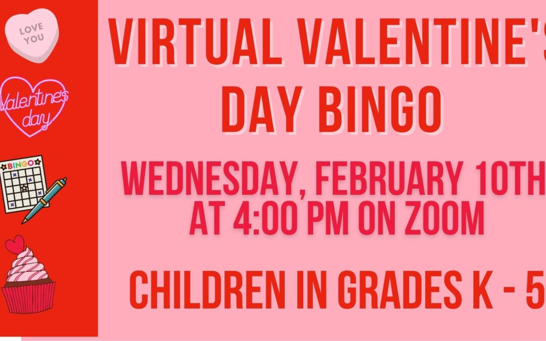 Virtual Valentine's Day Bingo