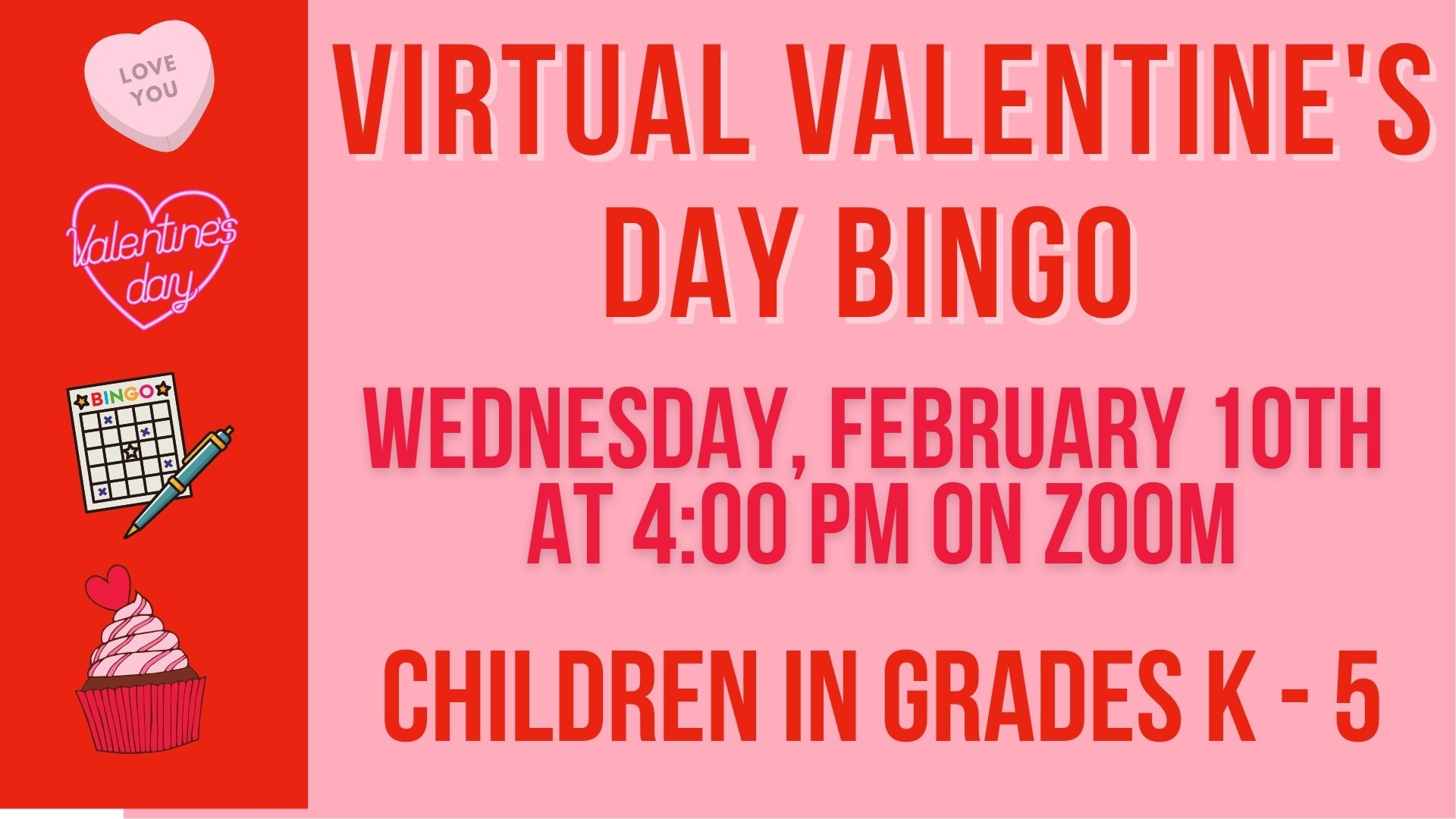 virtual valentine's day bingo