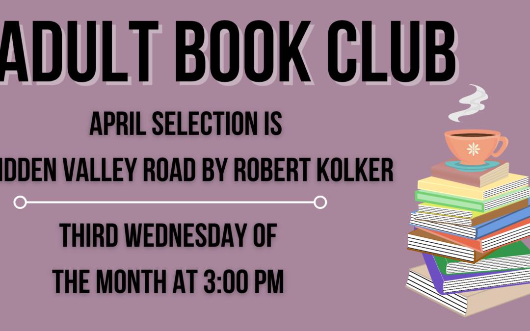 April Adult Book Club