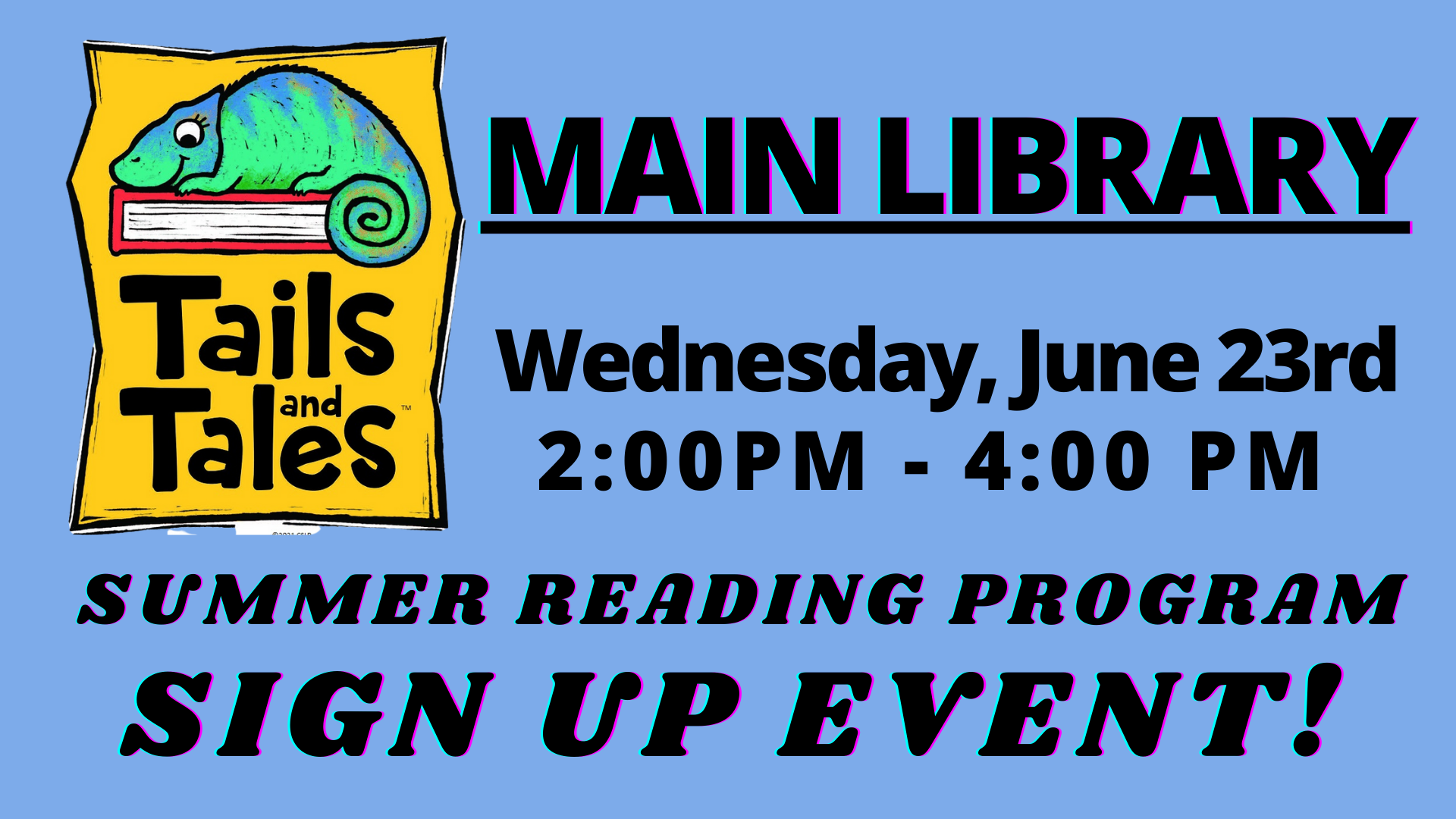 summer reading program sign up event - main library