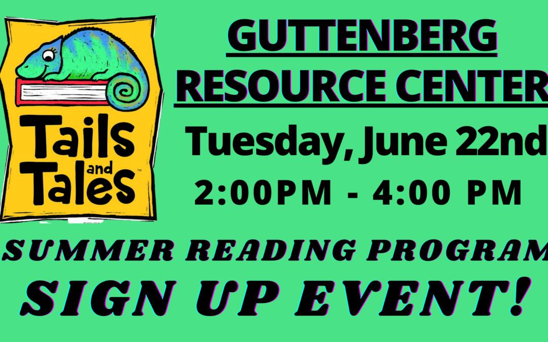 Summer Reading Sign Up Event – Guttenberg Resource Center