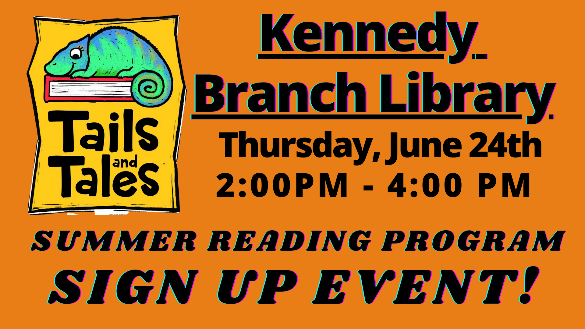 summer reading sign up event - kennedy branch library