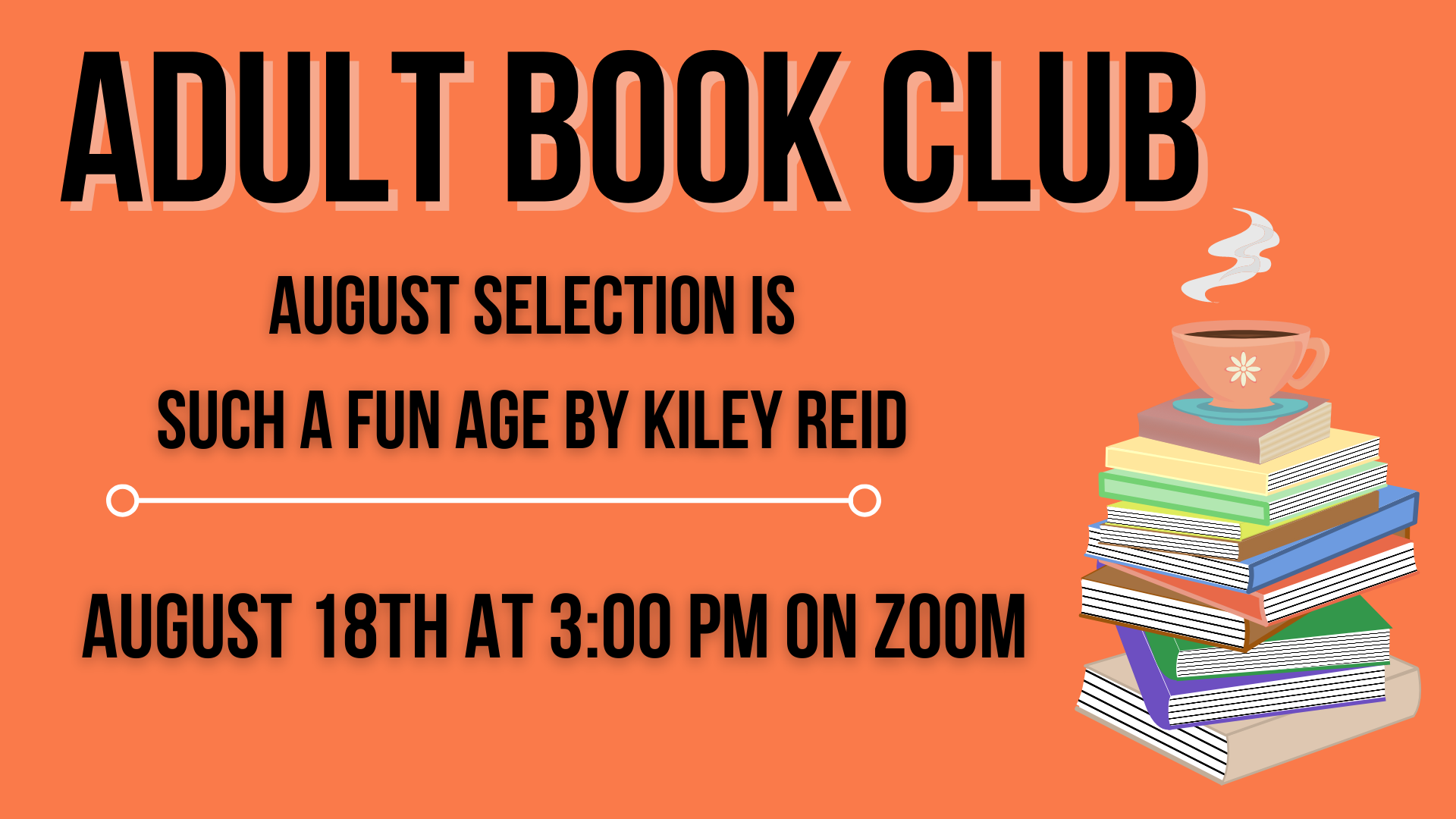 August Adult Book Club
